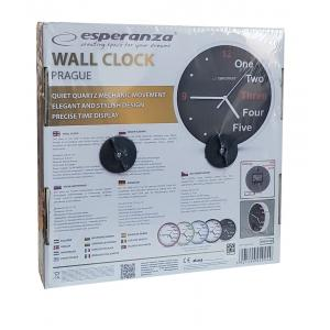 ESPERANZA ρολόι τοίχου Prague EHC014W, λευκό | Οικιακές & Προσωπικές Συσκευές | elabstore.gr