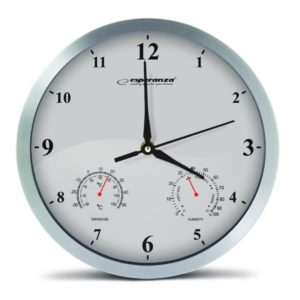 ESPERANZA ρολόι τοίχου Lyon EHC016W, λευκό   Οικιακές & Προσωπικές Συσκευές   elabstore.gr