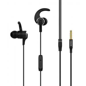YISON Sports earphones με μικρόφωνο EX230, 10mm, 1.2m, μαύρο | Αξεσουάρ κινητών | elabstore.gr
