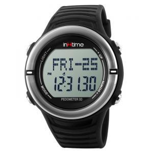 INTIME Ρολόι χειρός Hard-01, Pedometer, Παλμοί καρδιάς, Θερμίδες, ασημί | Οικιακές & Προσωπικές Συσκευές | elabstore.gr