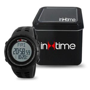 INTIME Ρολόι χειρός Step-01, Pedometer, Θερμίδες, El φωτισμός, μαύρο | Οικιακές & Προσωπικές Συσκευές | elabstore.gr
