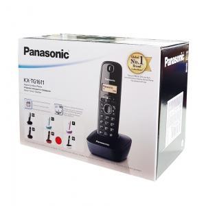 PANASONIC ασύρματο τηλέφωνο με ελληνικό μενού, μαύρο-άσπρο | Τηλεφωνία | elabstore.gr