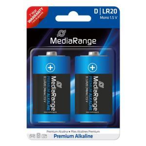 MediaRange Premium αλκαλική μπαταρία D Mono   LR20 1.5V Pack 2 μ.   Μπαταρίες - Φακοί   elabstore.gr