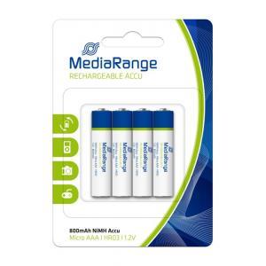 MEDIARANGE Επαναφορτιζόμενη μπαταρία AAA LR03, 800mAh, 4τμχ | Μπαταρίες - Φακοί | elabstore.gr