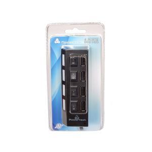 POWERTECH USB 2.0V HUB 4 Port με διακόπτη ON/OFF   Συνοδευτικά PC   elabstore.gr
