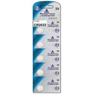 POWERTECH Μπαταρία λιθίου CR2032, 3V, 5τμχ | Μπαταρίες - Φακοί | elabstore.gr
