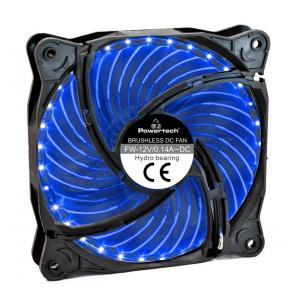 POWERTECH LED ανεμιστήρας PT-907, 120mm, 3pin/molex & 4 βίδες, μπλε | Υπολογιστής & Αναβάθμιση | elabstore.gr