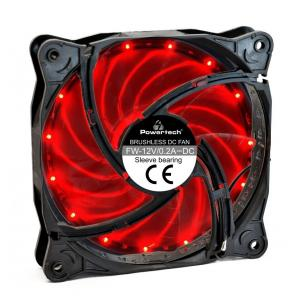 POWERTECH LED ανεμιστήρας PT-908, 120mm, 3pin/molex & 4 βίδες, κόκκινο | Υπολογιστής & Αναβάθμιση | elabstore.gr