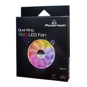 POWERTECH LED ανεμιστήρας PT-909, 120mm, Dual ring, 6pin, RGB | Υπολογιστής & Αναβάθμιση | elabstore.gr