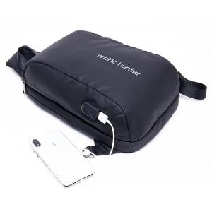 ARCTIC HUNTER Τσάντα Crossbody XB-00081-BK, USB, αδιάβροχη, μαύρη | Οικιακές & Προσωπικές Συσκευές | elabstore.gr