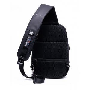 ARCTIC HUNTER Τσάντα Crossbody XB-00081-BK, USB, αδιάβροχη, μαύρη-grid | Οικιακές & Προσωπικές Συσκευές | elabstore.gr