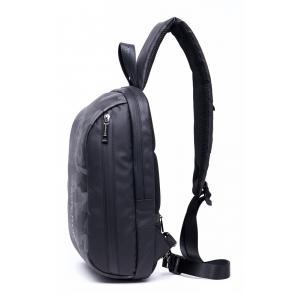 ARCTIC HUNTER Τσάντα Crossbody XB-00081-BK, USB, αδιάβροχη, μαύρη-grid   Οικιακές & Προσωπικές Συσκευές   elabstore.gr
