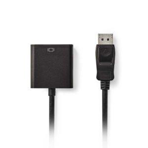 NEDIS CCGP37250BK02 DisplayPort-DVI Cable DisplayPort Male-DVI-D 24+1-Pin Female   ΚΑΛΩΔΙΑ / ADAPTORS   elabstore.gr