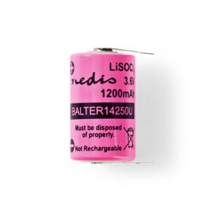 NEDIS BALTER14250U Lithium Thionyl Chloride Battery ER14250 3.6 V 1200 mAh | ΜΠΑΤΑΡΙΕΣ / ENERGY | elabstore.gr