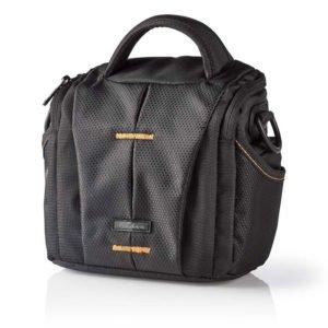 NEDIS CBAG200BK Camera Shoulder Bag 152 x 146 x 65 mm 2 Inside pockets Black/Ora   ΕΙΚΟΝΑ / ΗΧΟΣ   elabstore.gr