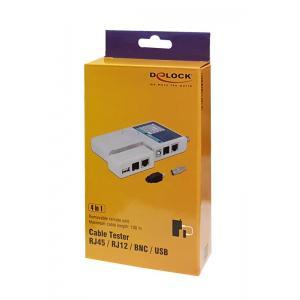 DELOCK Tester για RJ45 - RJ12 - BNC - USB καλώδια   Εργαλεία   elabstore.gr