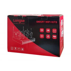 LONGSE WiFi Smart Kit CS200W, 2MP, 4 Cameras με 3 Sensors, TVI | Κλειστό Κύκλωμα CCTV | elabstore.gr