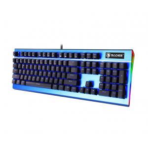 SADES Ενσύρματο πληκτρολόγιο K13 Sickle, μηχανικό, RGB Side, Blue switch   Συνοδευτικά PC   elabstore.gr