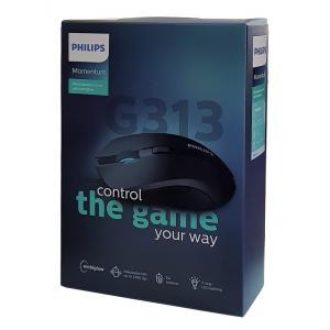 PHILIPS ενσύρματο gaming ποντίκι SPK9313, 2400DPI, 6 πλήκτρα, μαύρο | Συνοδευτικά PC | elabstore.gr