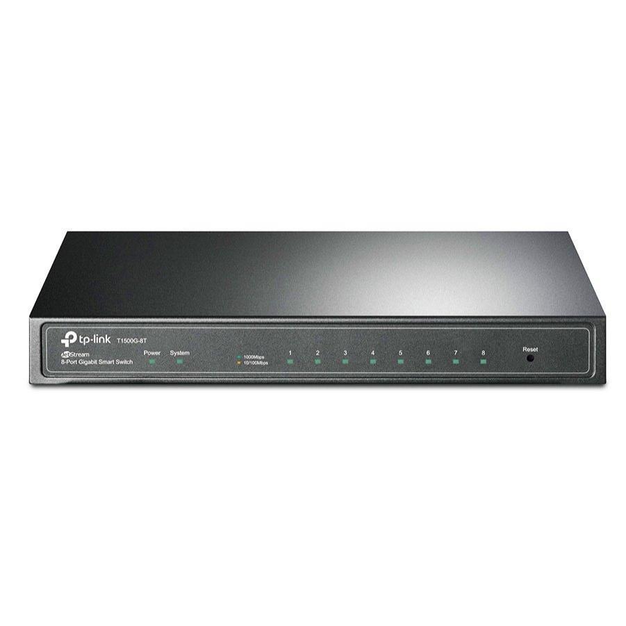 TP-LINK Gbit Smart Switch T1500G-8T, 8-port, 10/100/1000Mbps, Ver. 3.0 | Δικτυακά | elabstore.gr