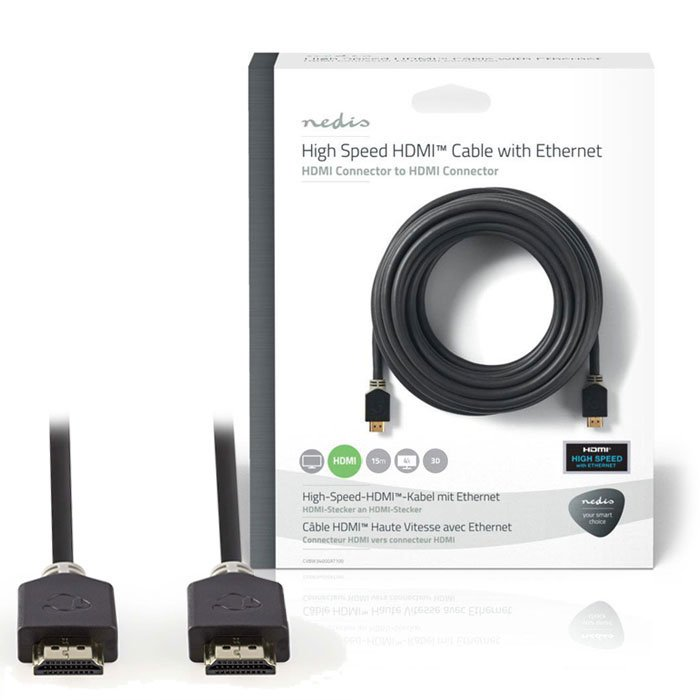 NEDIS CVBW34000AT150 High Speed HDMI Cable with Ethernet HDMI Connector-HDMI Con | ΚΑΛΩΔΙΑ / ADAPTORS | elabstore.gr