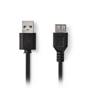 NEDIS CCGT60010BK30 USB 2.0 Cable A Male - USB A Female 3.0 m Black | ΚΑΛΩΔΙΑ / ADAPTORS | elabstore.gr