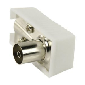 NEDIS CSGP40920WT IEC (Coax) Connector Angled Female - Square Design - 2 pieces | ΚΑΛΩΔΙΑ / ADAPTORS | elabstore.gr