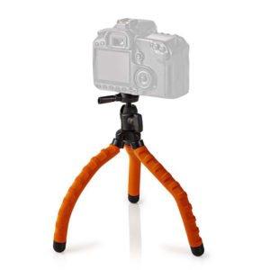 NEDIS GPOD3010BK Mini Tripod Max 1 kg 27.5 cm Flexible Black/Orange | ΕΙΚΟΝΑ / ΗΧΟΣ | elabstore.gr