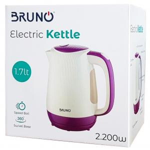 BRUNO Ηλεκτρικός βραστήρας BRN-0001, 2200w, 1.7lt, βάση 360°, LED | Οικιακές & Προσωπικές Συσκευές | elabstore.gr