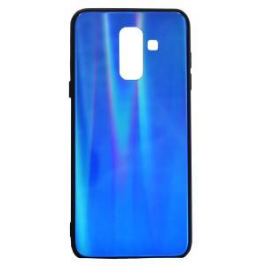 POWERTECH Θήκη Aurora Glass για Samsung A6 Plus 2018, σκούρο μπλέ | Αξεσουάρ κινητών | elabstore.gr