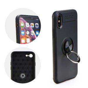 POWERTECH Θήκη Ring TPU για iPhone XS, μαύρη | Αξεσουάρ κινητών | elabstore.gr