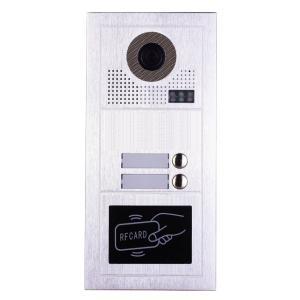 PAILI Mπουτονιέρα PL619-2D, CCD 1MP, 2 κουδουνιών, εντοιχιζόμενη, inox | Access Control | elabstore.gr
