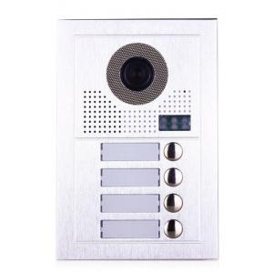 PAILI Mπουτονιέρα PL619-4D, CCD 1MP, 4 κουδουνιών, εντοιχιζόμενη, inox | Access Control | elabstore.gr