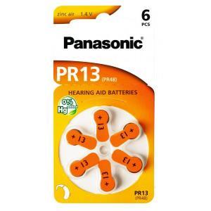PANASONIC μπαταρίες ακουστικών βαρηκοΐας PR13, mercury free, 1.4V, 6τμχ | Μπαταρίες - Φακοί | elabstore.gr
