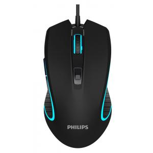 PHILIPS ενσύρματο gaming ποντίκι SPK9413, 6400DPI, 6 πλήκτρα, μαύρο | Συνοδευτικά PC | elabstore.gr