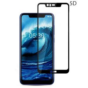 POWERTECH Tempered Glass 5D Full Glue για Nokia 5.1 Plus, Black | Αξεσουάρ κινητών | elabstore.gr