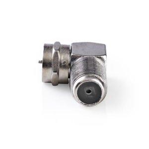 NEDIS CSGP41942ME Satellite & Antenna Adapter F Male - F Female 10 pieces Metal | ΚΑΛΩΔΙΑ / ADAPTORS | elabstore.gr