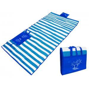 Ψάθα τσάντα παραλίας AG366 με μαξιλάρι, αδιάβροχη, 175 x 90 cm, μπλέ | Οικιακές & Προσωπικές Συσκευές | elabstore.gr