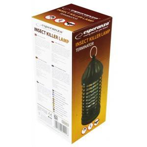 ESPERANZA Εντομοπαγίδα με Λάμπα UV-A Terminator EHQ005, 600V, μαύρο | Gadgets | elabstore.gr