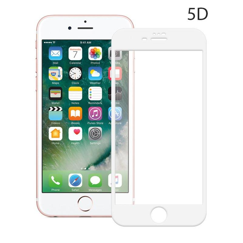 POWERTECH Tempered Glass 5D Full Glue για iPhone 6 Plus, White | Αξεσουάρ κινητών | elabstore.gr