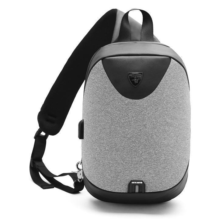 ARCTIC HUNTER τσάντα Crossbody XB0049-LG, tablet, αδιάβροχη, USB, γκρι | Οικιακές & Προσωπικές Συσκευές | elabstore.gr