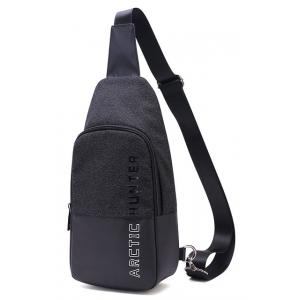 ARCTIC HUNTER τσάντα Crossbody XB0058-BK, αδιάβροχη, μαύρη | Οικιακές & Προσωπικές Συσκευές | elabstore.gr
