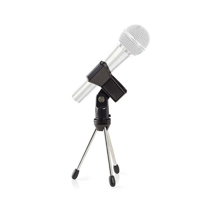 NEDIS MPST05BK Microphone Table Stand Max 0.8 kg Black Silver | ΕΙΚΟΝΑ / ΗΧΟΣ | elabstore.gr