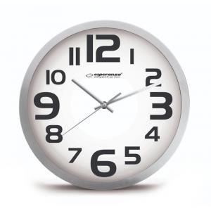 ESPERANZA Ρολόι τοίχου Zurich EHC013W, 25cm, λευκό   Οικιακές & Προσωπικές Συσκευές   elabstore.gr