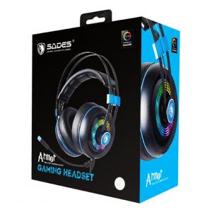 SADES Gaming Headset Armor SA-918-BL, USB, Realtek Audio, RGB LED, BK | Συνοδευτικά PC | elabstore.gr
