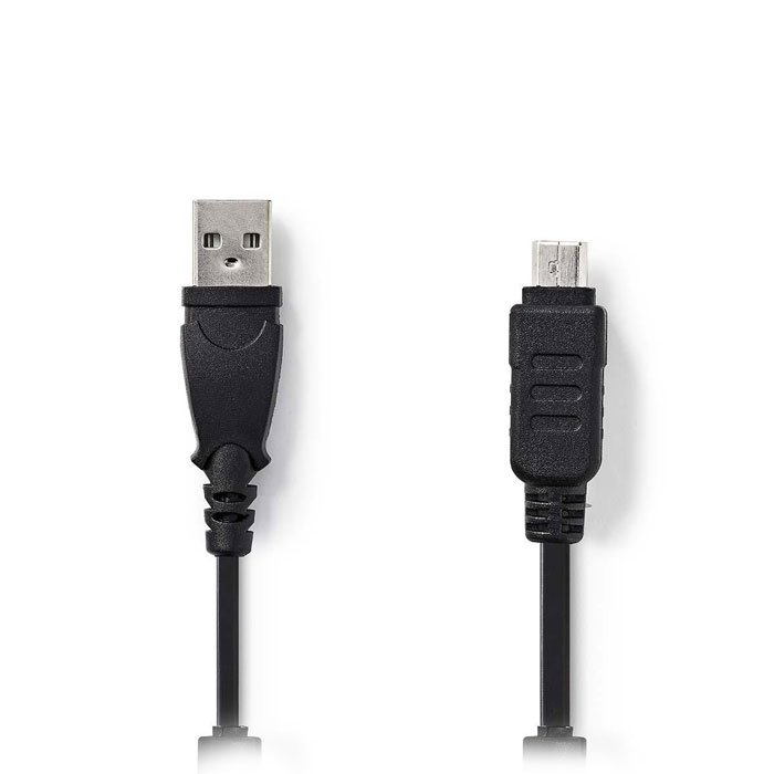 NEDIS CCGP60802BK20 Camera Data Cable USB A Male - Olympus 12-pin Male 2.0 m Bla | ΚΑΛΩΔΙΑ / ADAPTORS | elabstore.gr