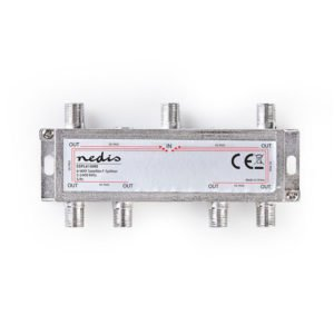 NEDIS SSPL610ME Satellite F-Splitter Max 17 dB gain 5 - 2400 MHz 6 Outputs | ΕΙΚΟΝΑ / ΗΧΟΣ | elabstore.gr