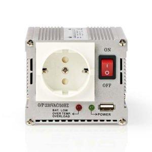 NEDIS PIMS30012 Power Inverter Modified Sine Wave 12 V DC - 230 V AC 300 W 1x Sc | ΜΠΑΤΑΡΙΕΣ / ENERGY | elabstore.gr