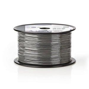 NEDIS COTR15011GY100 Microphone Cable 2x 0.125 mm² 100 m Reel Grey | ΚΑΛΩΔΙΑ / ADAPTORS | elabstore.gr
