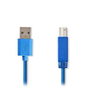 NEDIS CCGP61100BU20 USB 3.0 Cable A Male - B Male 2.0 m Blue | ΚΑΛΩΔΙΑ / ADAPTORS | elabstore.gr